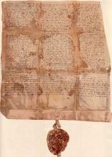 A Szent György Lovagrend alapító levele (1326).