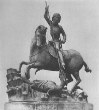 Szent György / 1373 / Bronz / magasság: 196 cm / Národni Galerie, Prága