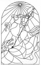 Szent György megöli a sárkányt / 30X40cm / filctoll / amishael@gmail.com
