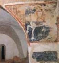 Szent György 1335 Freskó Keresztelő Szent János-templom, Cserkút