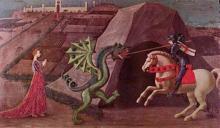 Szent György és a Sárkány, Paolo Uccello, c. 1470.
